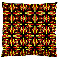 Red Black Yellow 9 Standard Flano Cushion Case (two Sides)