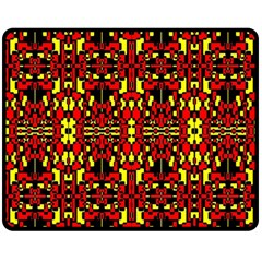 Red Black Yellow 8 Fleece Blanket (medium)