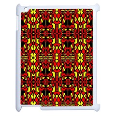 Red Black Yellow 8 Apple Ipad 2 Case (white)