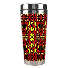 Red Black Yellow 8 Stainless Steel Travel Tumblers by ArtworkByPatrick1