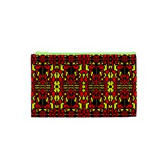 Red Black Yellow 8 Cosmetic Bag (xs)