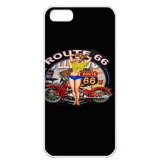 Route 66 Apple Iphone 5 Seamless Case (white) by ArtworkByPatrick1