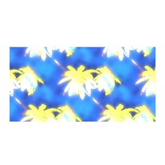 Palm Trees Bright Blue Green Satin Wrap