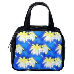 Palm Trees Bright Blue Green Classic Handbags (one Side)