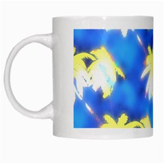 Palm Trees Bright Blue Green White Mugs