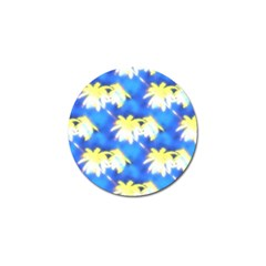 Palm Trees Bright Blue Green Golf Ball Marker (10 Pack)