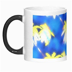 Palm Trees Bright Blue Green Morph Mugs by CrypticFragmentsColors