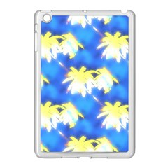 Palm Trees Bright Blue Green Apple Ipad Mini Case (white)