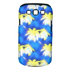 Palm Trees Bright Blue Green Samsung Galaxy S Iii Classic Hardshell Case (pc+silicone)