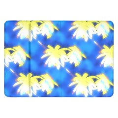 Palm Trees Bright Blue Green Samsung Galaxy Tab 8 9  P7300 Flip Case by CrypticFragmentsColors