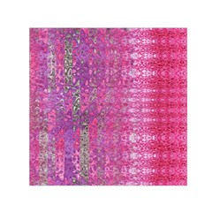 Purple Splash And Pink Shimmer Created By Flipstylez Designs Small Satin Scarf (square)