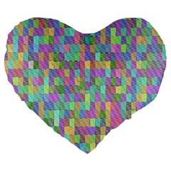 G 9 Large 19  Premium Flano Heart Shape Cushions