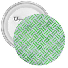 Woven2 White Marble & Green Watercolor (r) 3  Buttons