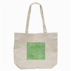 Woven2 White Marble & Green Watercolor (r) Tote Bag (cream)