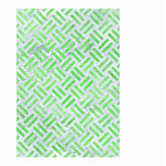 Woven2 White Marble & Green Watercolor (r) Small Garden Flag (two Sides)