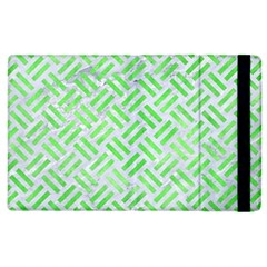 Woven2 White Marble & Green Watercolor (r) Apple Ipad 3/4 Flip Case