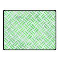Woven2 White Marble & Green Watercolor (r) Double Sided Fleece Blanket (small)