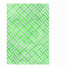 Woven2 White Marble & Green Watercolor Small Garden Flag (two Sides)