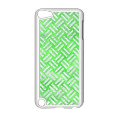 Woven2 White Marble & Green Watercolor Apple Ipod Touch 5 Case (white)