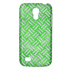 Woven2 White Marble & Green Watercolor Samsung Galaxy S4 Mini (gt I9190) Hardshell Case