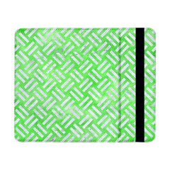 Woven2 White Marble & Green Watercolor Samsung Galaxy Tab Pro 8 4  Flip Case