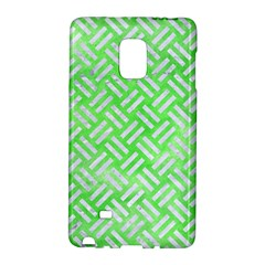 Woven2 White Marble & Green Watercolor Samsung Galaxy Note Edge Hardshell Case by trendistuff