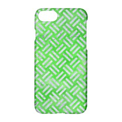 Woven2 White Marble & Green Watercolor Apple Iphone 7 Hardshell Case