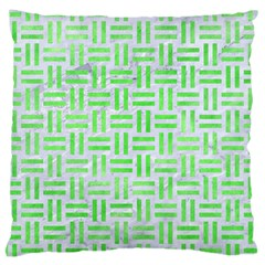 Woven1 White Marble & Green Watercolor (r) Large Cushion Case (two Sides)