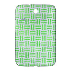 Woven1 White Marble & Green Watercolor (r) Samsung Galaxy Note 8 0 N5100 Hardshell Case