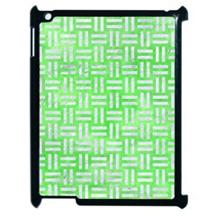 Woven1 White Marble & Green Watercolor Apple Ipad 2 Case (black)
