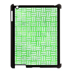 Woven1 White Marble & Green Watercolor Apple Ipad 3/4 Case (black)