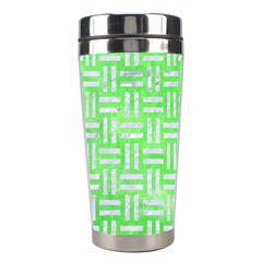 Woven1 White Marble & Green Watercolor Stainless Steel Travel Tumblers