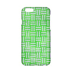 Woven1 White Marble & Green Watercolor Apple Iphone 6/6s Hardshell Case