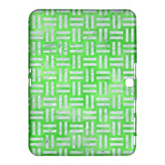 Woven1 White Marble & Green Watercolor Samsung Galaxy Tab 4 (10 1 ) Hardshell Case