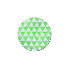 Triangle3 White Marble & Green Watercolor Golf Ball Marker