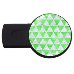 Triangle3 White Marble & Green Watercolor Usb Flash Drive Round (2 Gb)