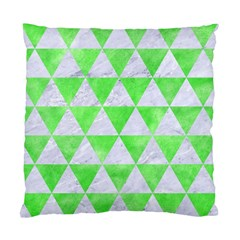 Triangle3 White Marble & Green Watercolor Standard Cushion Case (one Side)