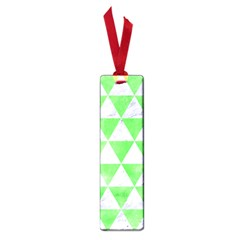 Triangle3 White Marble & Green Watercolor Small Book Marks