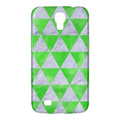 Triangle3 White Marble & Green Watercolor Samsung Galaxy Mega 6 3  I9200 Hardshell Case