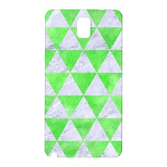 Triangle3 White Marble & Green Watercolor Samsung Galaxy Note 3 N9005 Hardshell Back Case