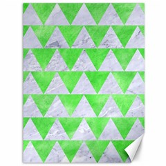 Triangle2 White Marble & Green Watercolor Canvas 36  X 48