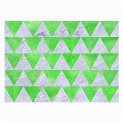 Triangle2 White Marble & Green Watercolor Large Glasses Cloth
