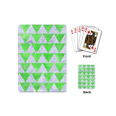 Triangle2 White Marble & Green Watercolor Playing Cards (mini)