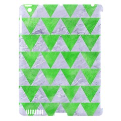 Triangle2 White Marble & Green Watercolor Apple Ipad 3/4 Hardshell Case (compatible With Smart Cover)
