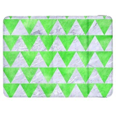 Triangle2 White Marble & Green Watercolor Samsung Galaxy Tab 7  P1000 Flip Case