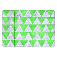 Triangle2 White Marble & Green Watercolor Samsung Galaxy Tab 10 1  P7500 Flip Case