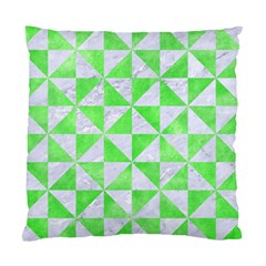 Triangle1 White Marble & Green Watercolor Standard Cushion Case (one Side)