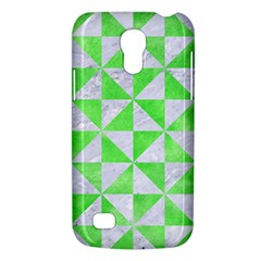Triangle1 White Marble & Green Watercolor Samsung Galaxy S4 Mini (gt I9190) Hardshell Case