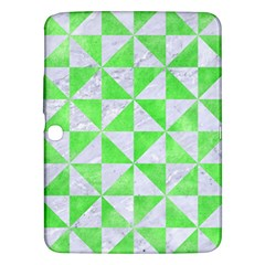 Triangle1 White Marble & Green Watercolor Samsung Galaxy Tab 3 (10 1 ) P5200 Hardshell Case