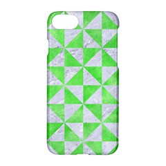 Triangle1 White Marble & Green Watercolor Apple Iphone 8 Hardshell Case
